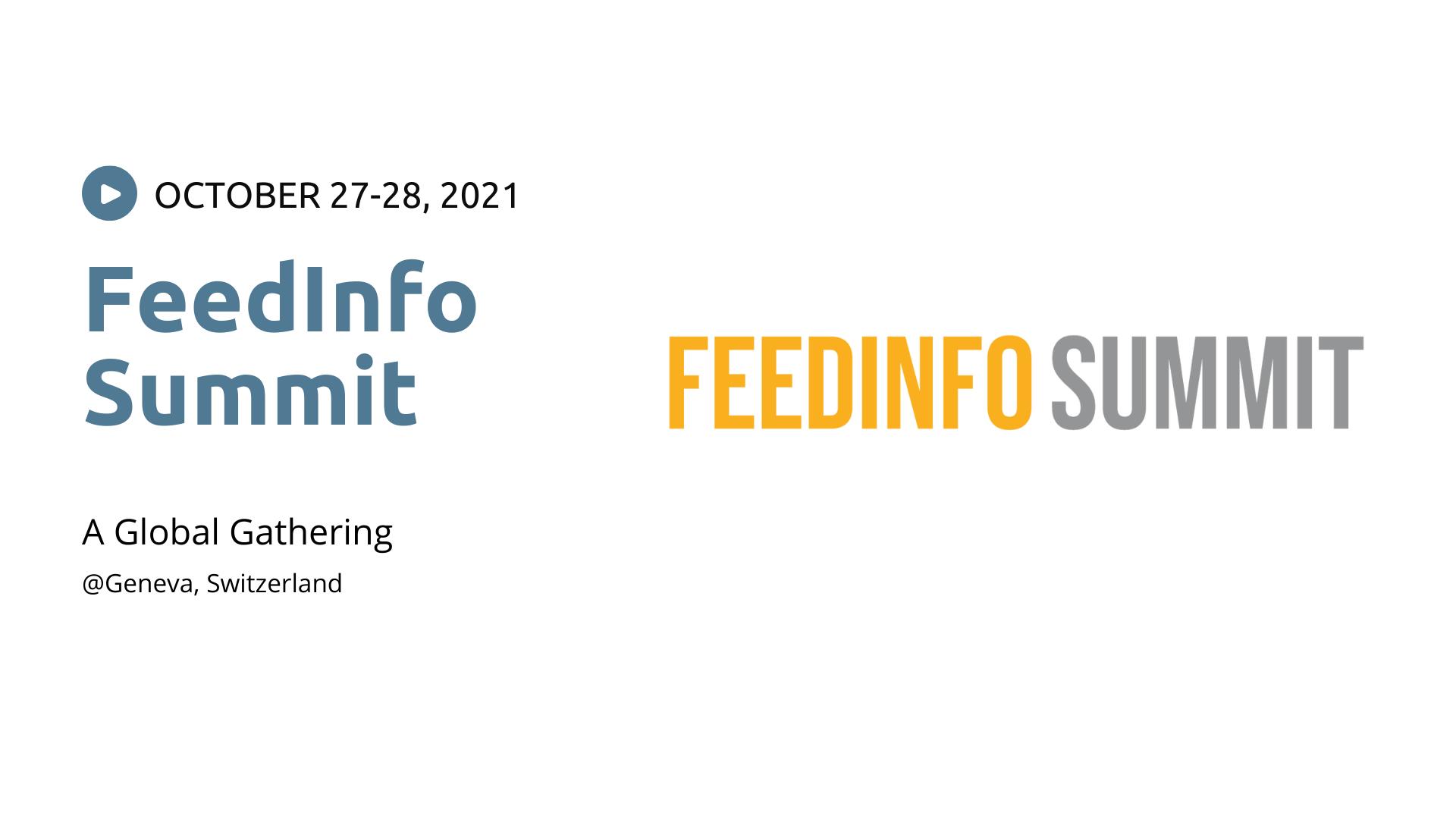 FeedInfo Summit 2021